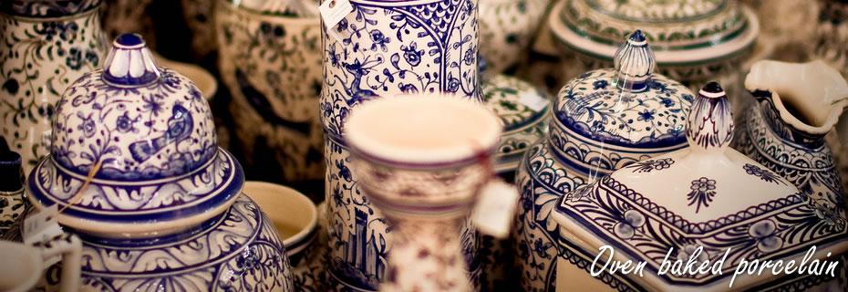 Oven baked porcelain